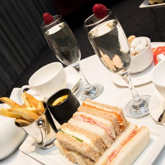 Afternoon tea and sandwiches at Clayton Hotel Birmingham
