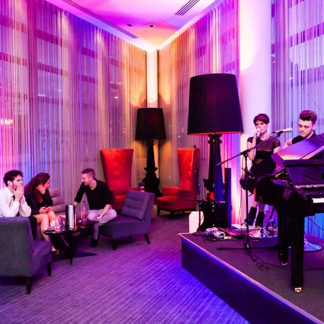 Live music at Alvar Bar located in the Clayton Hotel Birmingham