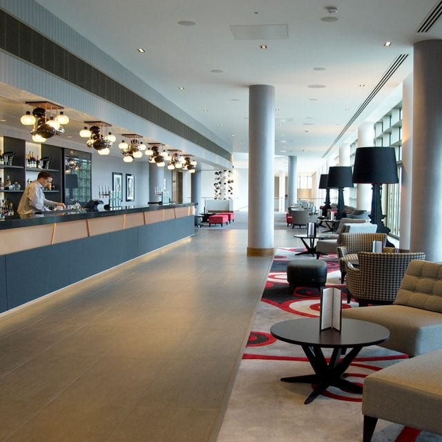 Lounge area at Alvar Bar located in the Clayton Hotel Birmingham