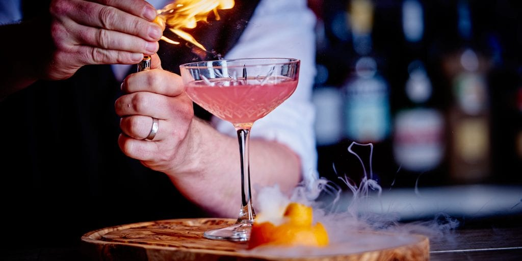 Cocktail served at Alvar Bar in Clayton Hotel Birmingham