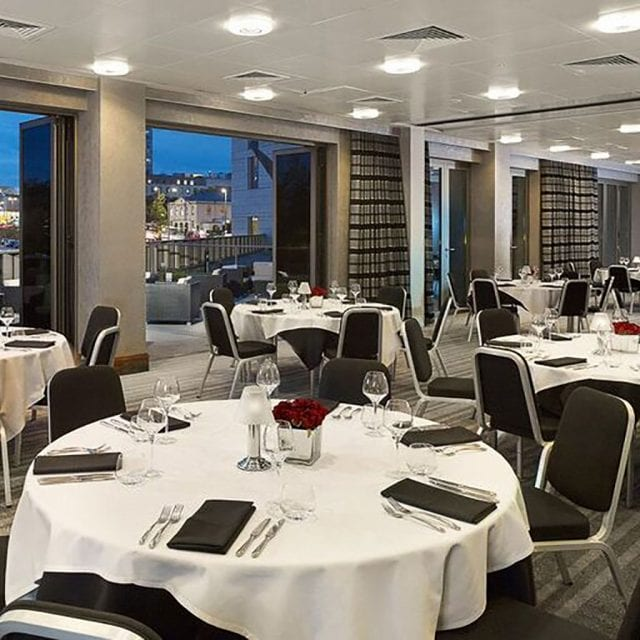 Conference Banquet style at Clayton Hotel Birmingham