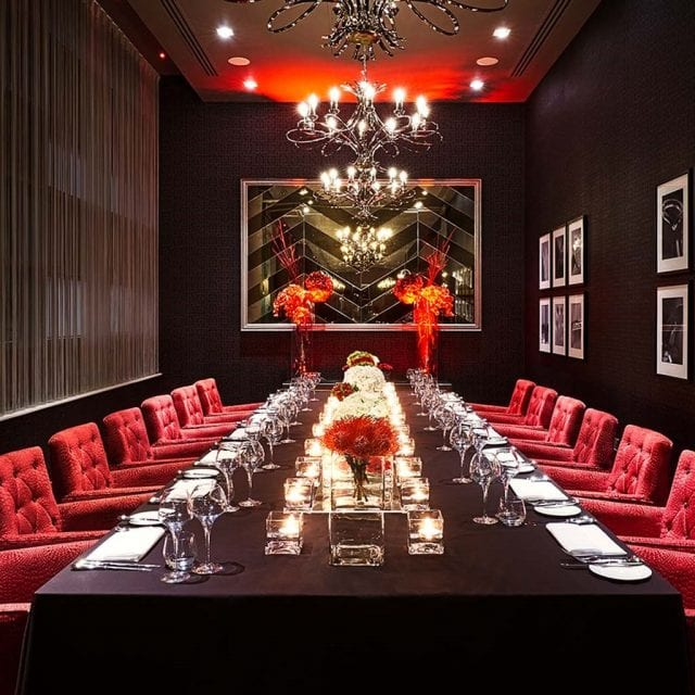 Private dining room at Clayton Hotel Birmingham